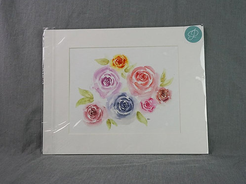 Watercolor Print - Roses
