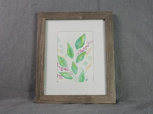 Framed Original - Leaf Grouping