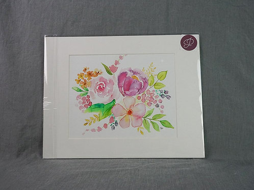 Watercolor Print - Pink Grouping