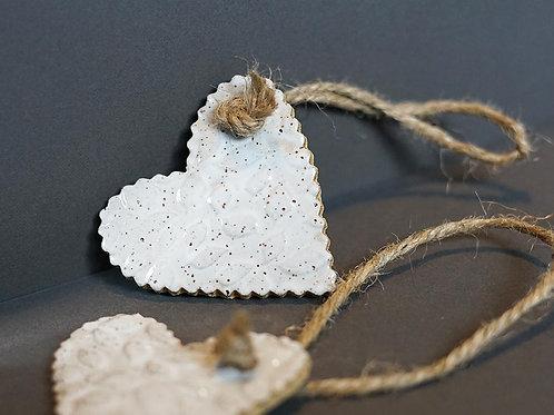 Heart Ornament - White