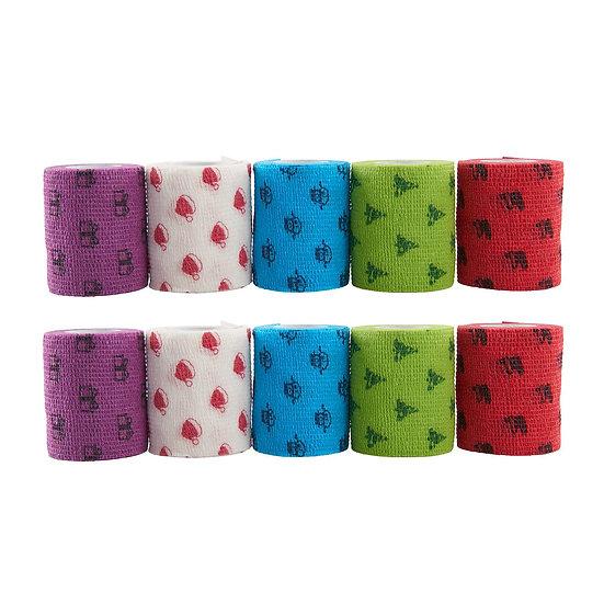 KRUUSE Fun Flex Pet Bandage, Assorted Christmas Patterns