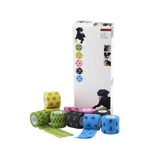 KRUUSE Fun-Flex Pet Bandage, 10 Rolls Assorted