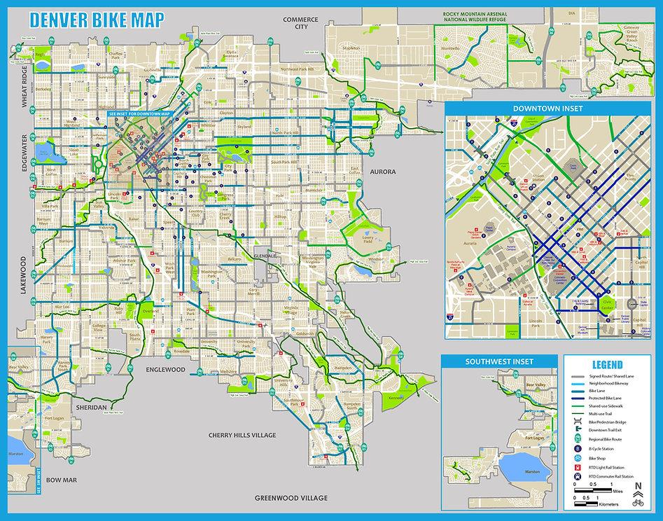 denver city bike map