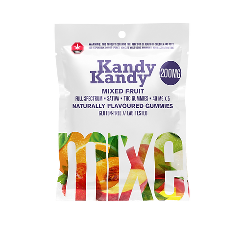 Kandy Kane Mixed Berry Gummies 200mg Sativa
