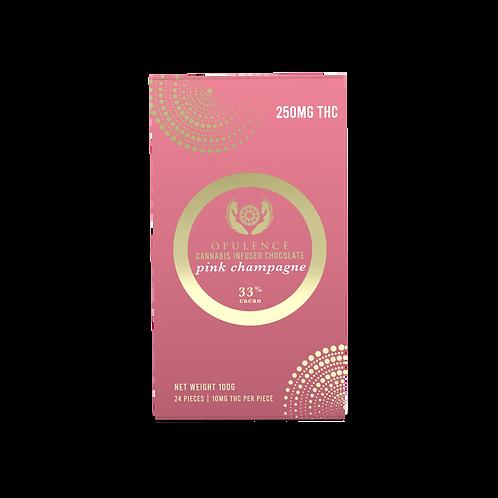 Opulence Pink Champagne 250mg Chocolate Bar