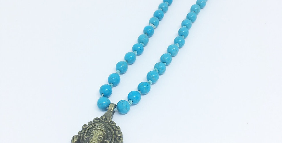 Meio Japamala Ganesha e Turquesa Azul
