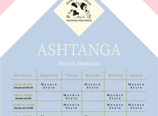 Novos Horários De Aulas de Ashtanga Yoga