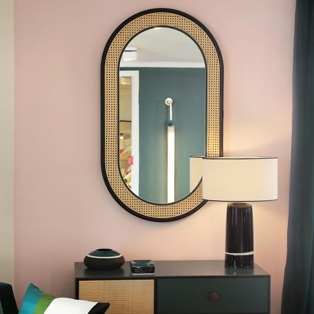 Miroir cannage