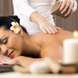Oil massage (massage with oil)