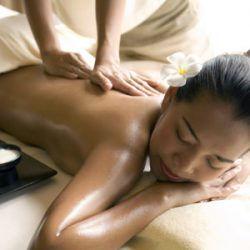 Massage of shoulder girdle and back