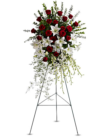 Lily and Rose Tribute Spray ~ $194.99