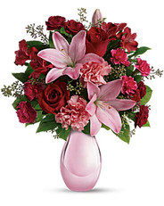 Roses and Pearls Bouquet ~ $64.95