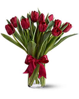 Red Tulips Vase ~ $54.95