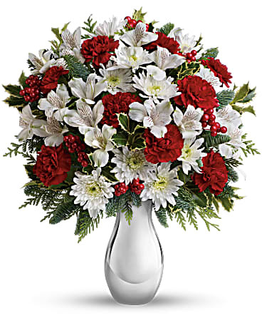 Teleflora'sSilver And Snowflakes Bouquet Premium  ~ $64.99