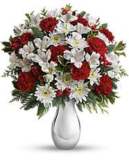 Teleflora'sSilver And Snowflakes Bouquet Premium  ~ $64.99