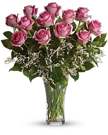 Dozen Long Stem Pink Roses ~ $74.99.jpg