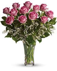 Dozen Long Stem Pink Roses ~ $74.99