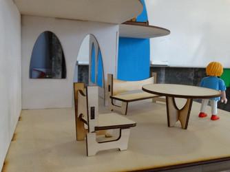 Maqueta d'una casa modernista