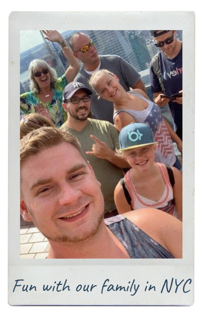 Justin Joey hoping to adopt - city selfie with friends