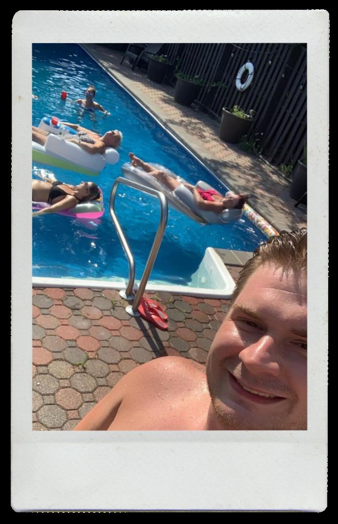 Justin Joey hoping to adopt - pool fun