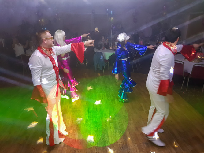 Fancy Dress Dancers on the Dance Floor at a Birthday Party in Carlisle with a Disco and DJ