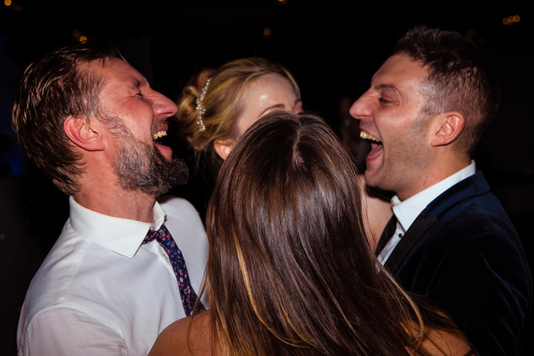 Wedding Party Enjoying their DJ and Disco at Le Petit Château with great Videography