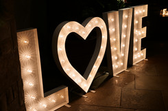Giant LOVE Letters Hire North East & Cumbria
