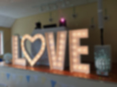 Giant LOVE Letters Wedding Hire North East & Cumbria