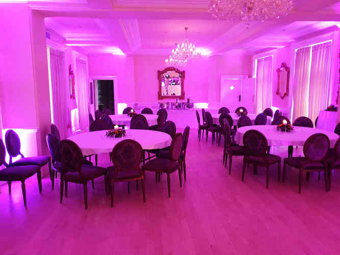 Pink Mood Lighting Hired Out to a Hotel in Midddesbrough for a Stunning Corporate Evening with a