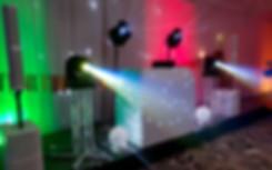 White North East Cumbria DJ Disco Setup.