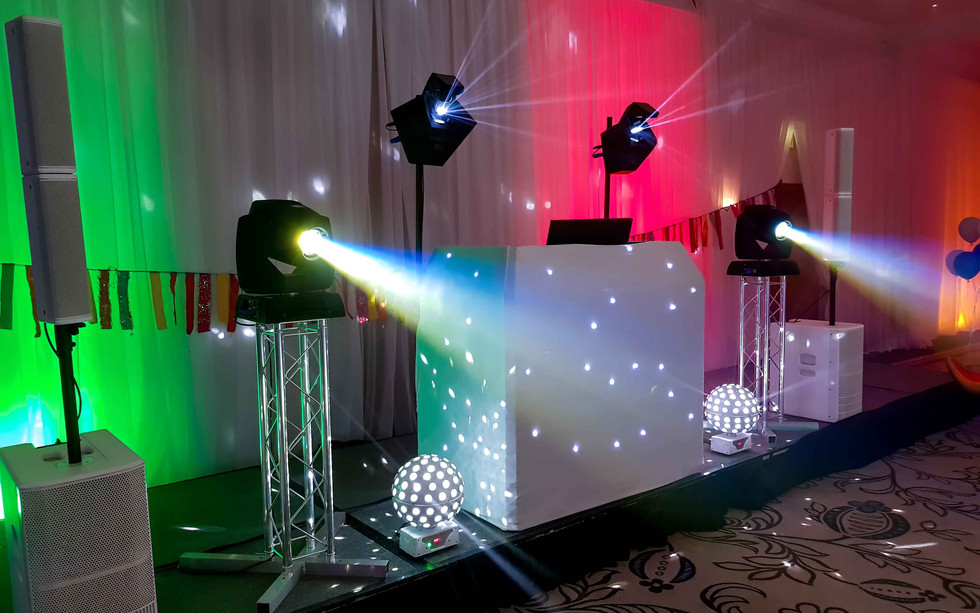 White North East Cumbria DJ Disco Setup.