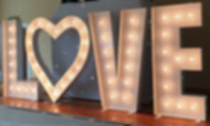Giant LOVE Letters for hire in the North East & Cumbria Boogie Knight