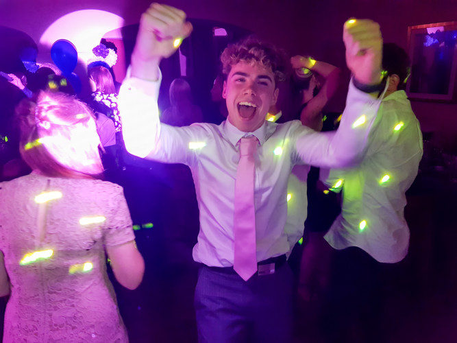 School Leaver Danging with a DJ and Disco at The Stadium of Light in Sunderland.