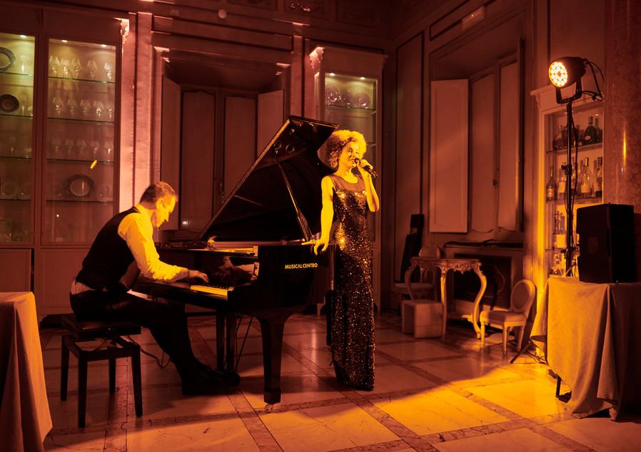 So&So Duet Private diner Villa Laetitia (Roma) Ici la terre Agency Sophie Thiam  David Henry © Maxime Leyravaud