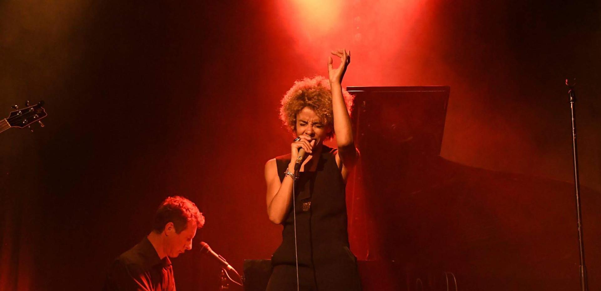 "Festival ""le jazz bat la campagne"", Partenay. Sophie Thiam, David Henry © Caroug"