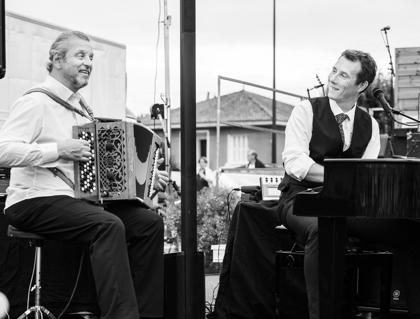 "Festival ""Neuville en jazz"". David Henry, Marc Berthoumieux (guest). © Jochen Strobel"