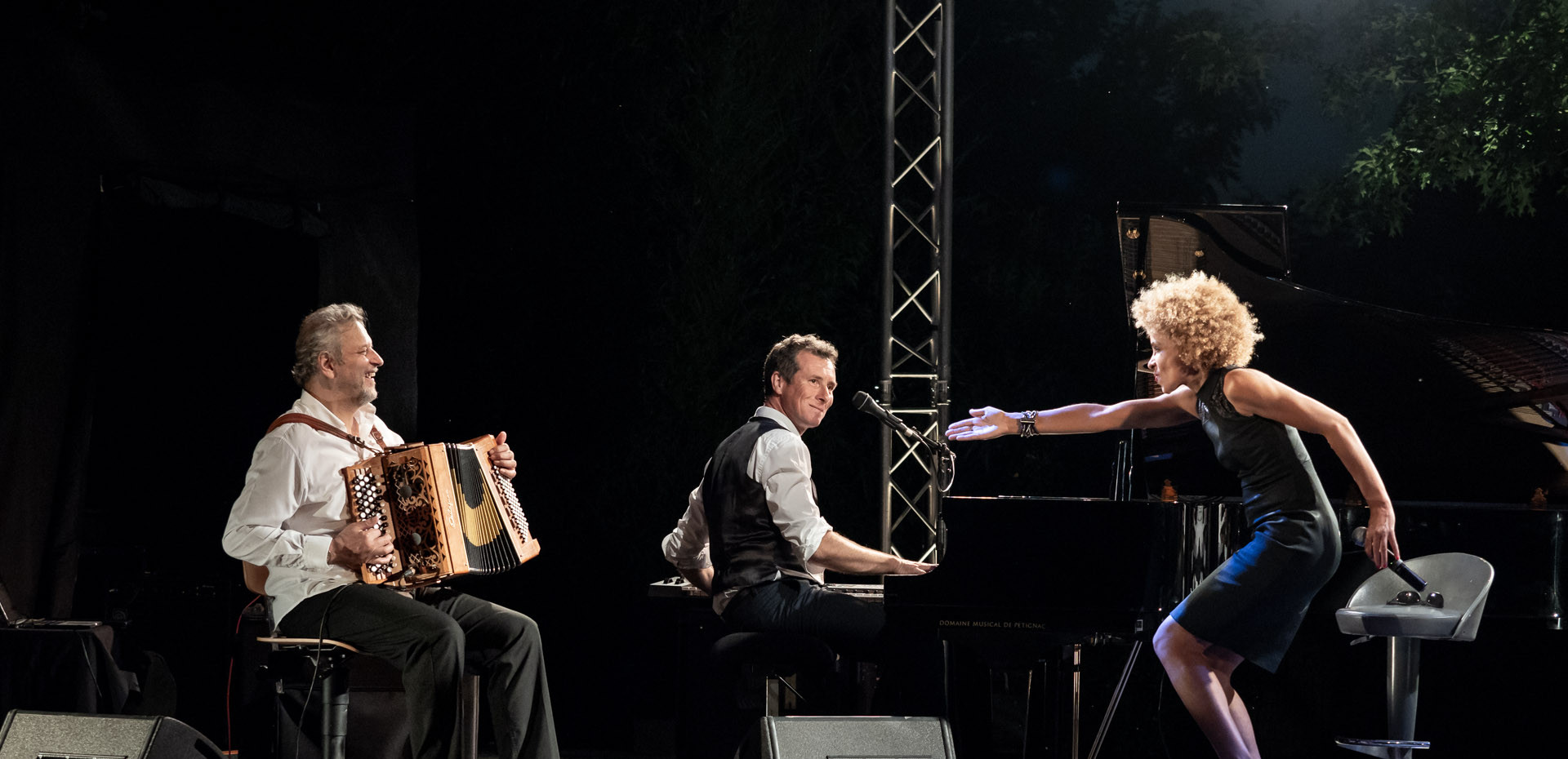 "Jazz festival, Chabournay.  Sophie Thiam, David Henry, Marc Berthoumieux guest"". © Jochen Strobel"