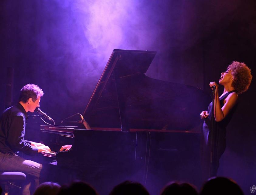 "Festival ""le jazz bat la campagne"", La Garde. Sophie Thiam, David Henry © Jochen Strobel"