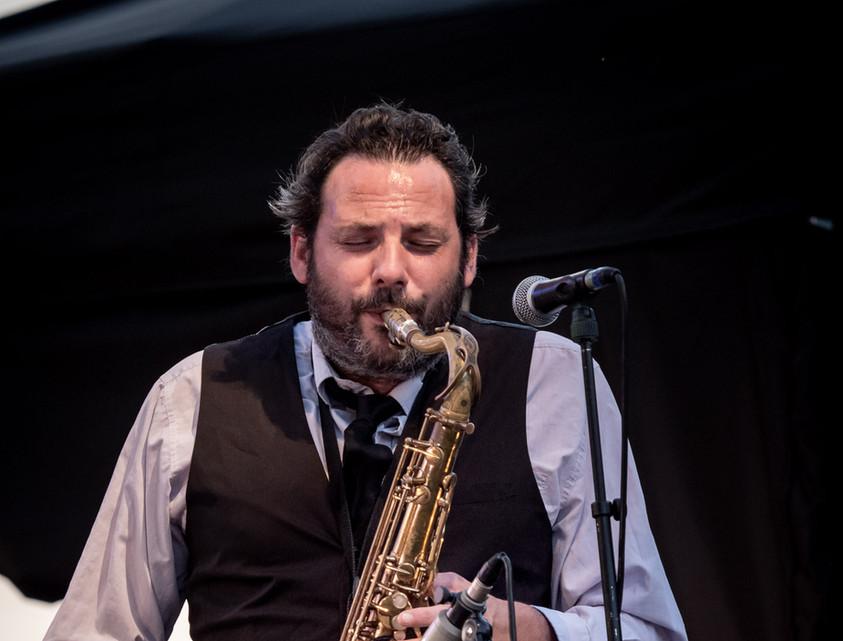 Jazz festival, Chabournay.  François Sabin (Guest) © Jochen Strobel