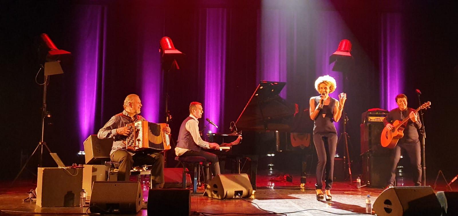 """Jazz Festival, St Benoit Swing (La Hune) Sophie Thiam, David Henry, Marc Berthoumieux """"guest"""", Richard Puaud,  © Nicolas Bré"""