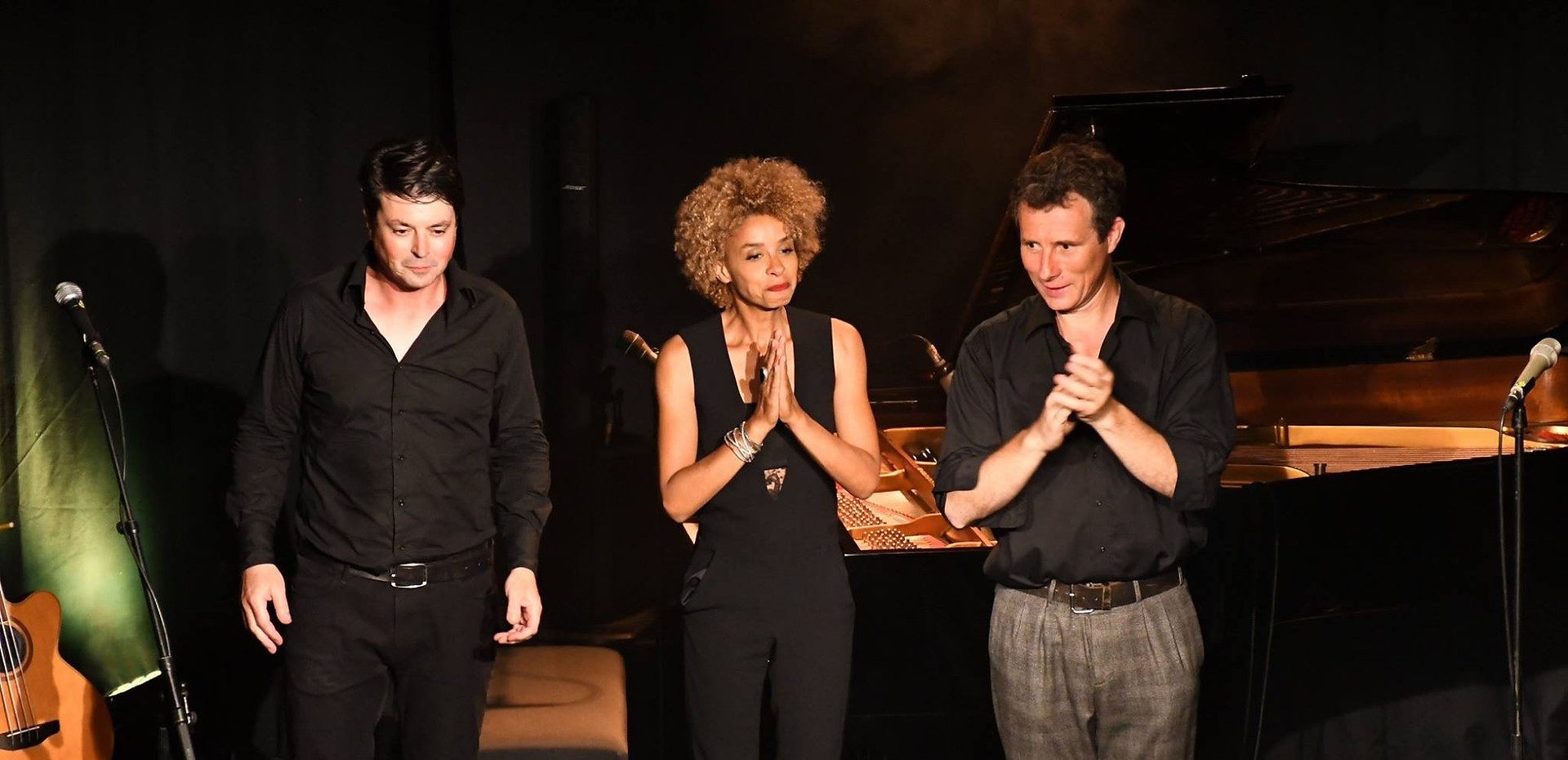 "Festival ""Le jazz bat la campagne"", Partenay Sophie Thiam, David Henry, Richard Puaud.  © Caroug"