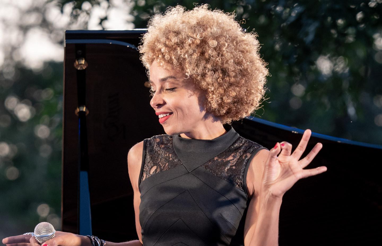 Jazz festival, Chabournay.  Sophie Thiam © Jochen Strobel