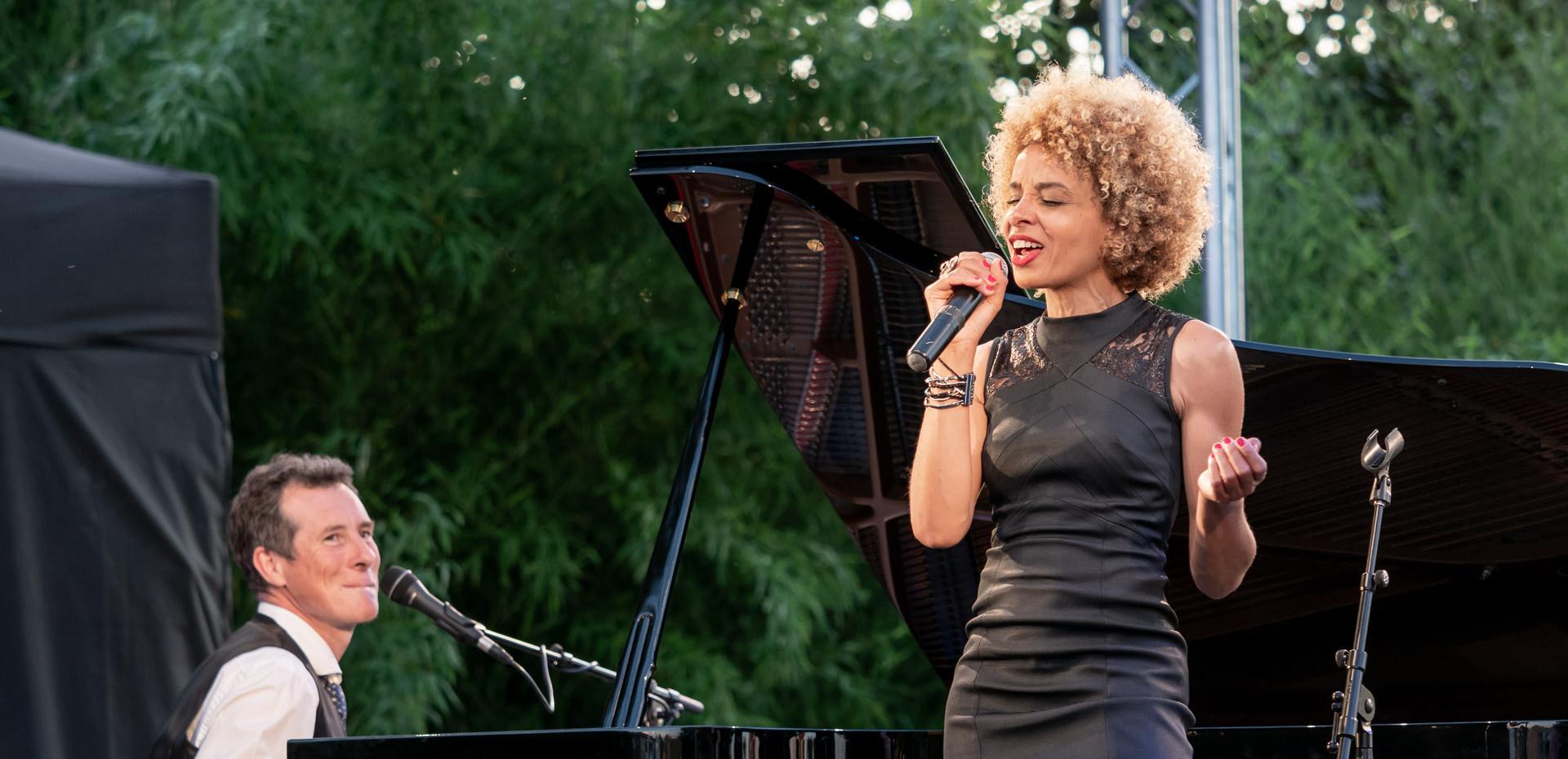Jazz festival, Chabournay.  Sophie Thiam, David Henry. © Jochen Strobel