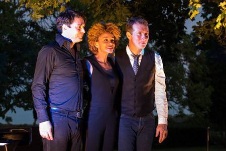 Jazz festival, La Garde. Sophie Thiam, David Henry, Richard Puaud.