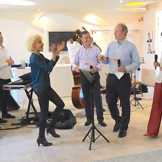 Team Building for managers Video Clip Recording a musical sing your favorite song