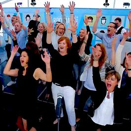 Team Building Video Clip Recording a musical Write and sing a song Le Réseau des talents Agency