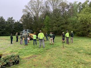 Training Day, Mulching around trees.jpg