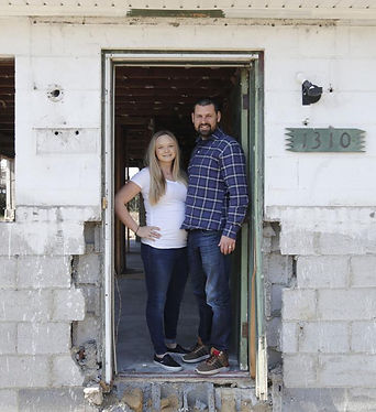 David and Amanda Seibert bought a beat-up cinder-block house last fall for $27,000 off North 26th Street in Church Hill