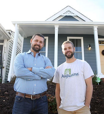 Realtor Dave Seibert (left) and Garrett Augustine, who owns Augustine Construction worked together