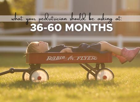11 Questions Pediatricians should be asking Parents at 36-60 months